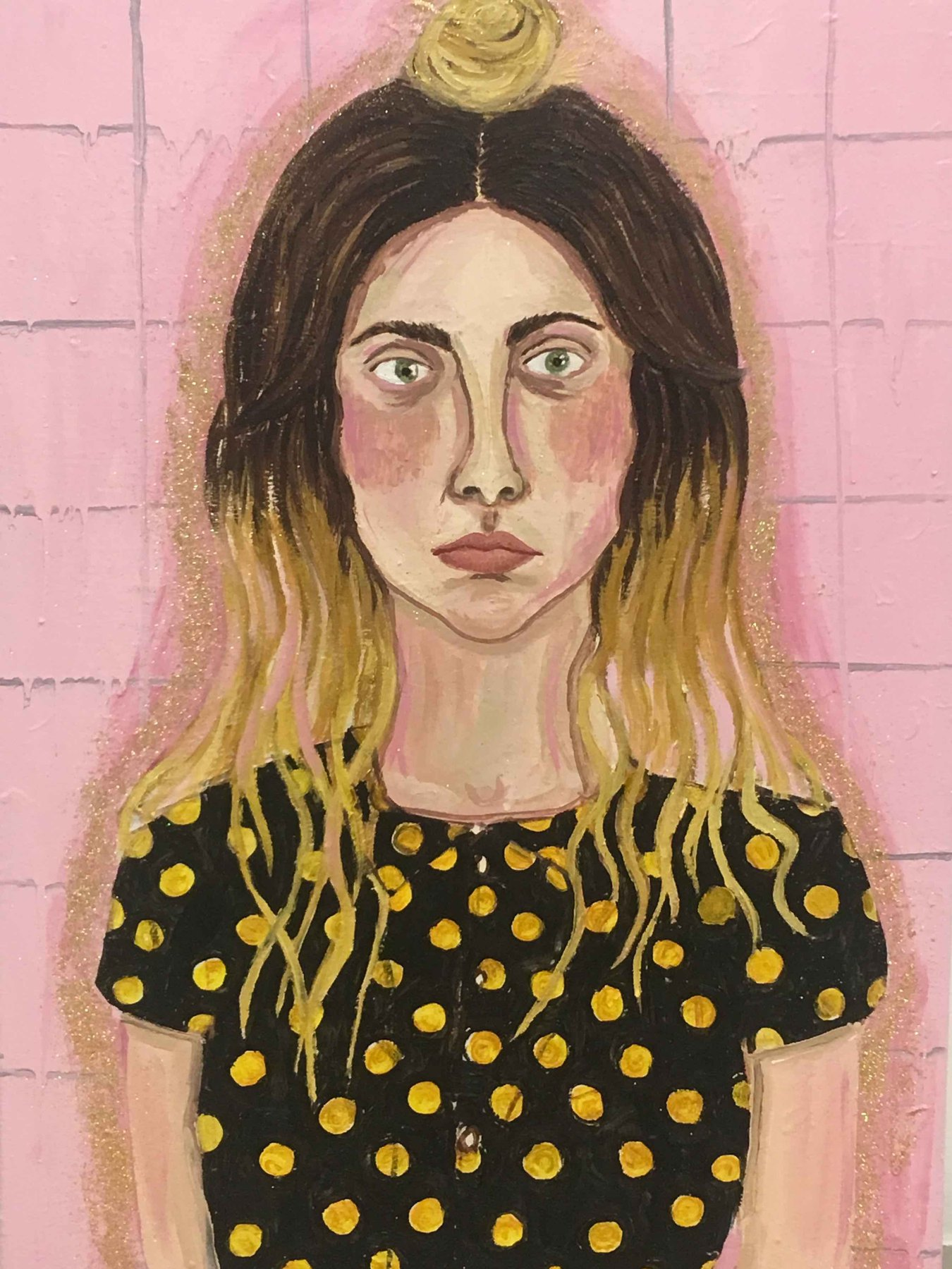 Self portrait in pink